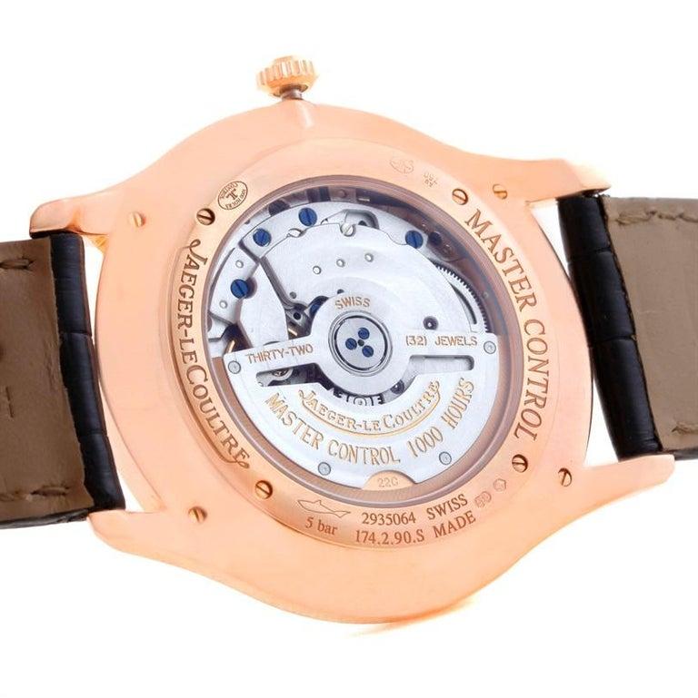 Men's Jaeger-LeCoultre Master Control Rose Gold Diamond Watch Q1352502 For Sale
