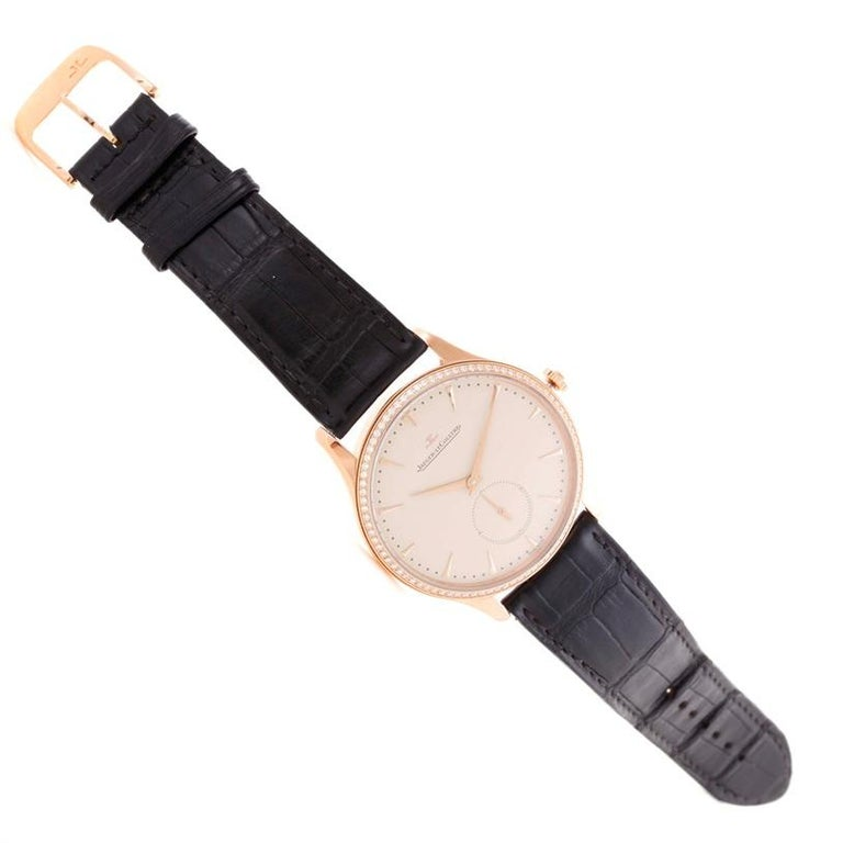 Jaeger-LeCoultre Master Control Rose Gold Diamond Watch Q1352502 For Sale 1