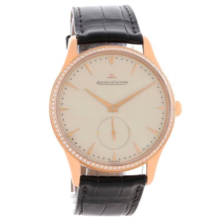Jaeger-LeCoultre Master Control Rose Gold Diamond Watch Q1352502 For Sale 3