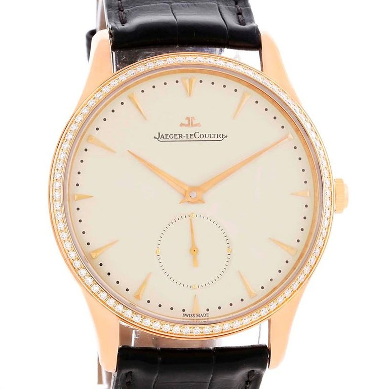 Jaeger-LeCoultre Master Control Rose Gold Diamond Watch Q1352502 For Sale