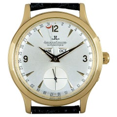 Jaeger-LeCoultre Master Date Gents 18 Karat Yellow Gold Silver Dial 140.1.87
