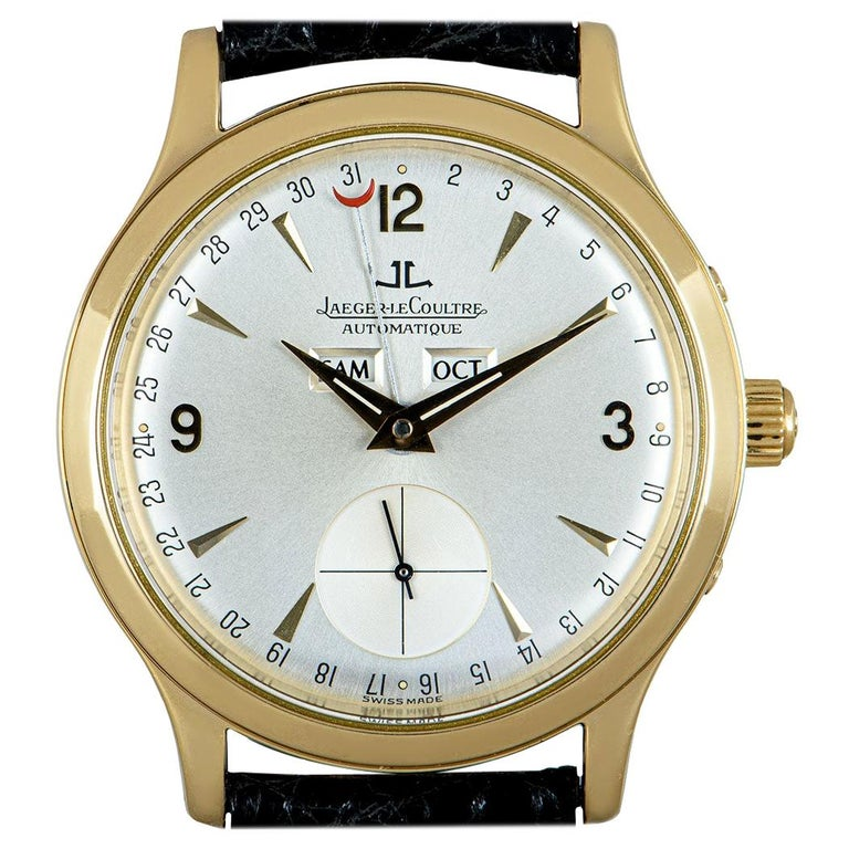 Jaeger-LeCoultre Master Date Gents 18 Karat Yellow Gold Silver Dial 140.1.87 For Sale