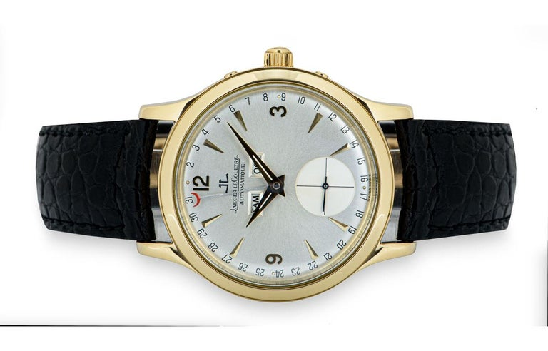 Jaeger-LeCoultre Master Date Gents 18 Karat Yellow Gold Silver Dial 140.1.87 For Sale 2