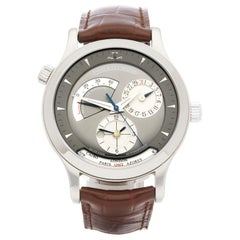 Jaeger-LeCoultre Master Geographic 18 Karat White Gold 142.3.92