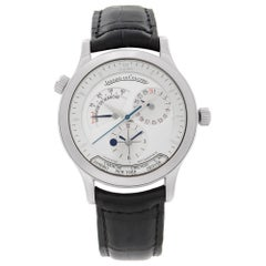 Jaeger-LeCoultre Master Geographic Automatic Silver Dial Mens Watch 142.8.92