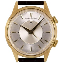 Jaeger-LeCoultre Memovox Alarm Vintage Gents Gold Capped Silver Dial