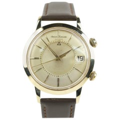 Jaeger-LeCoultre Memovox Calendar 14k and Stainless Steel Vintage Wristwatch