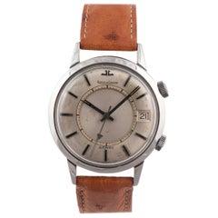 Jaeger-LeCoultre Memovox Steel Wristwatch, circa 1960s