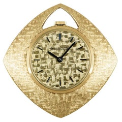 Jaeger-LeCoultre Open Face Pendant Pocket Watch Vintage 18 Karat Yellow Gold