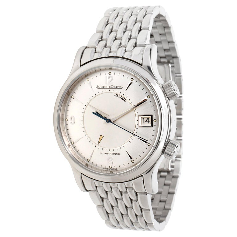 Jaeger lecoultre reveil 141 men 39 s watch in stainless steel for sale at 1stdibs for Jaeger lecoultre kinetic