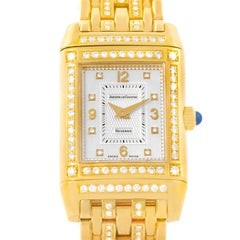 Jaeger LeCoultre Reverso 18 Karat Yellow Gold Diamond Ladies Watch 267.1.86