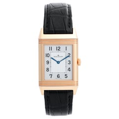 Jaeger, LeCoultre Reverso 18 Karat Rose Gold Men's Watch 227.2.62