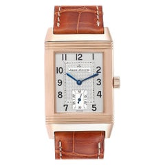 Jaeger LeCoultre Reverso Art Deco Rose Gold Men's Watch 270.2.62