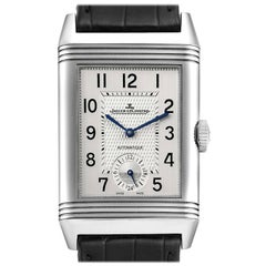 Jaeger LeCoultre Reverso Classic Large Duoface Day Night Steel Mens Watch