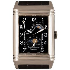 Jaeger LeCoultre Reverso Day and Night Gents White Gold Black Dial 270.3.63