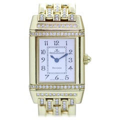 Jaeger-LeCoultre Reverso Duetto 18k Gold Ladies Wristwatch with Diamonds