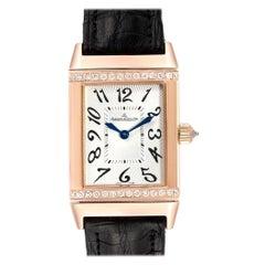 Jaeger LeCoultre Reverso Duetto Classique Rose Gold Diamond Watch 256.2.75