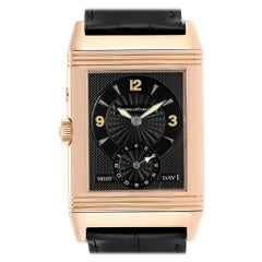 Jaeger LeCoultre Reverso Duo Day Night Rose Gold Watch 270.2.54 Q270254
