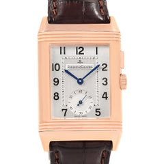 Jaeger-LeCoultre Reverso Duo Second Time Zone Rose Gold Watch 272.2.54