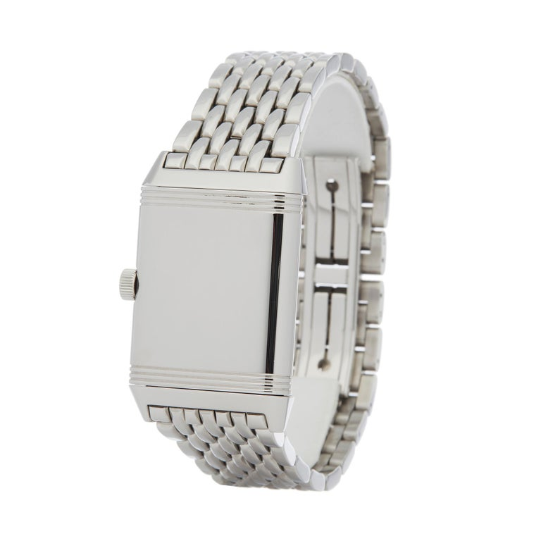 Jaeger-LeCoultre Reverso Stainless Steel 270.8.62 In Excellent Condition For Sale In Bishops Stortford, Hertfordshire