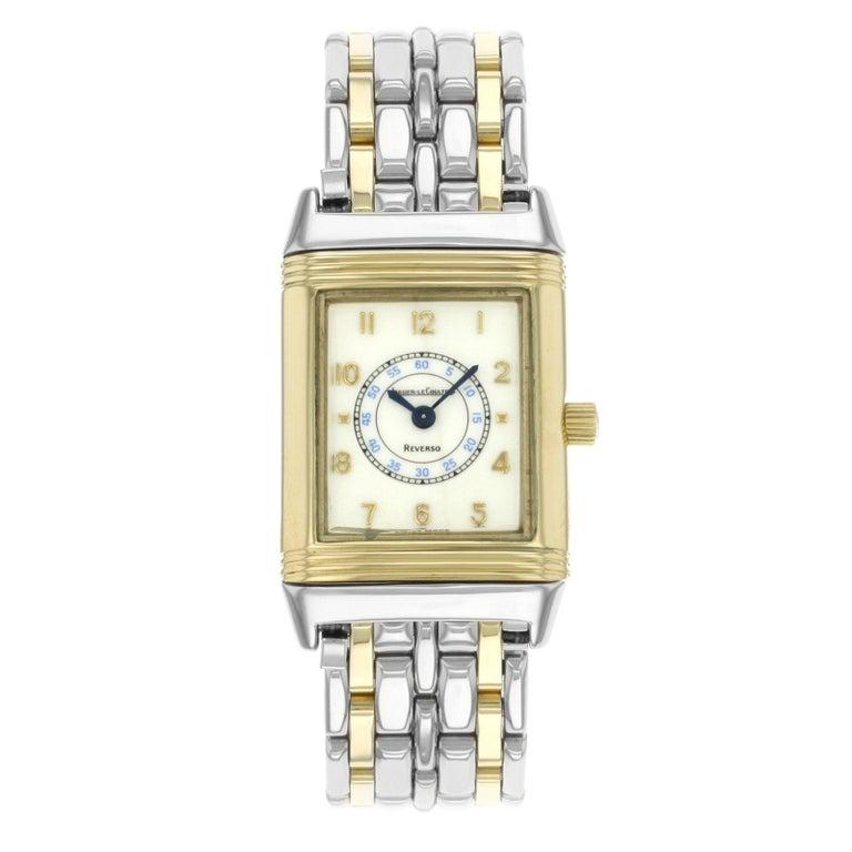 ea13c45b9214 Jaeger-LeCoultre Reverso Steel 18 Karat Gold Cream Dial Quartz Watch  260.5.08 For