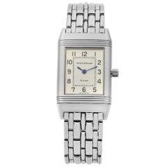 Jaeger-LeCoultre Reverso Steel Silver Dial Ladies Quartz Watch 260.8.08