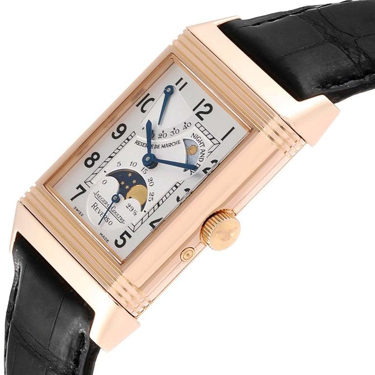 Men's Jaeger LeCoultre Reverso Sun Moon Rose Gold Watch 270.2.63 Q3042420 For Sale