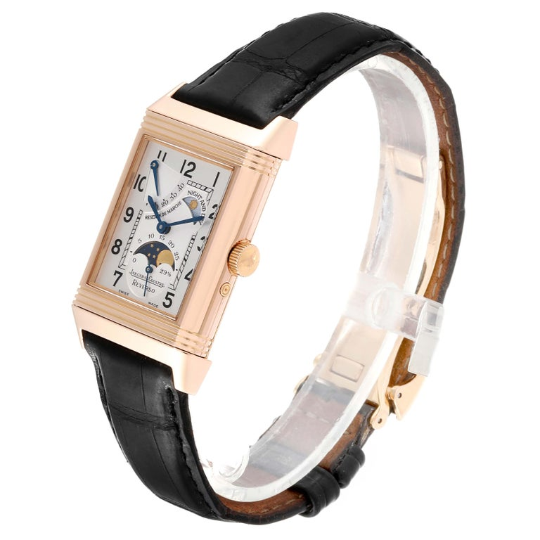 Jaeger LeCoultre Reverso Sun Moon Rose Gold Watch 270.2.63 Q3042420 For Sale 1