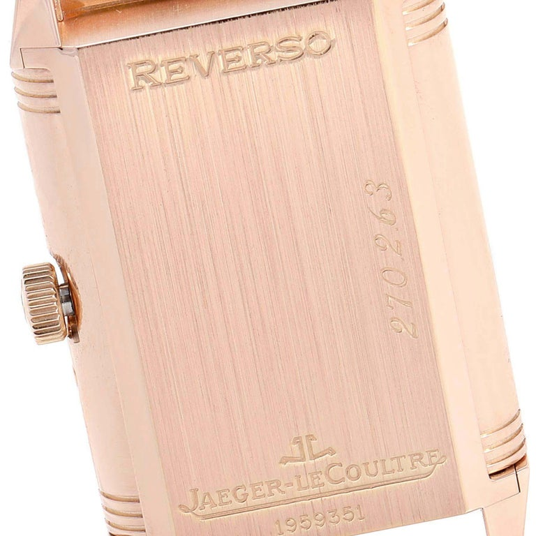 Jaeger LeCoultre Reverso Sun Moon Rose Gold Watch 270.2.63 Q3042420 For Sale 2