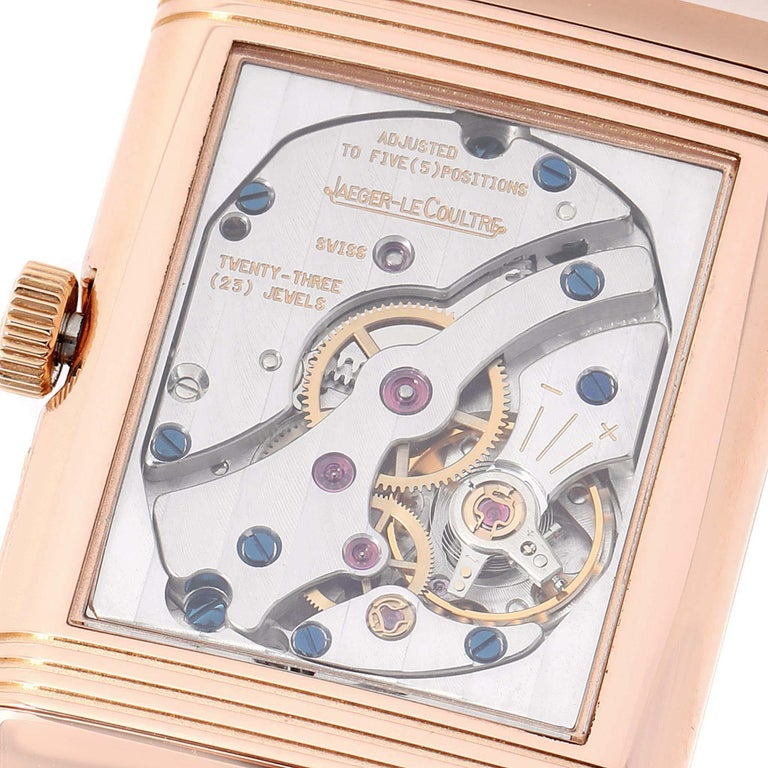 Jaeger LeCoultre Reverso Sun Moon Rose Gold Watch 270.2.63 Q3042420 For Sale 3