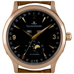 Jaeger LeCoultre Rose Gold Master Moon Triple Date Moonphase B&P 140.2.98.S