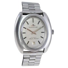 Jaeger-LeCoultre Steel circa 1960s Wristwatch with Original Dial and Bracelet