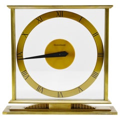 Jaeger-LeCoultre Swiss Midcentury Table Clock, 1940s-1950s