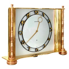 Jaeger-LeCoultre Switzerland Vintage Table Brass Clock, 1930
