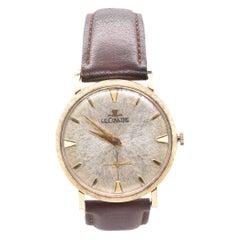 Jaeger-LeCoultre Vintage 14 Karat Yellow Gold Gents Wrist Watch