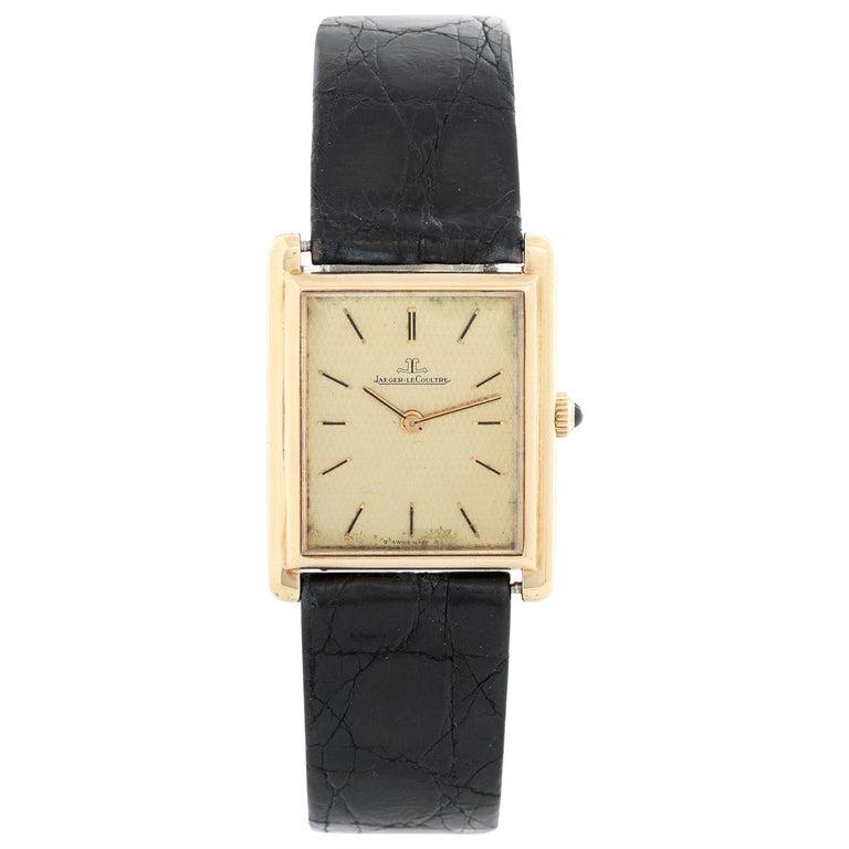 Jaeger-LeCoultre Vintage 18 Karat Gold Square Men's Watch 6029.21 For Sale