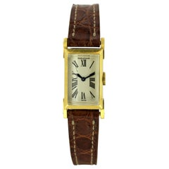 Jaeger-LeCoultre Vintage 18kt Gold Ladies Manual Winding Watch with Hermés Case