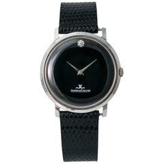 Jaeger-LeCoultre Vintage Hand Wind Men's Watch 1 Diamond Dial 14 Karat Gold