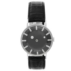Jaeger-LeCoultre white gold Mystery Galaxy Manual Wristwatch, 1950s