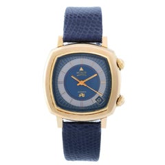 Jaeger-LeCoultre yellow gold filled HPG Memovox Alarm Automatic Wristwatch