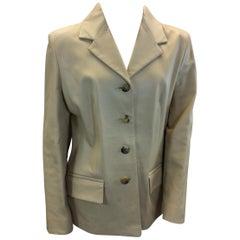 Jaeger Tan Leather Jacket