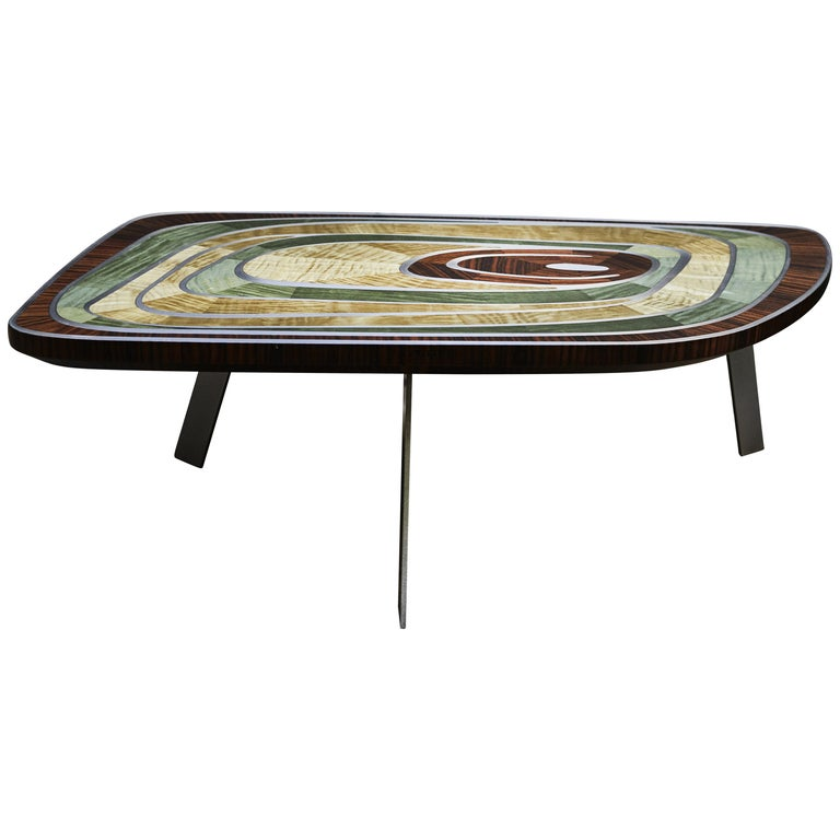 """Jael Green"" Coffee Table by Ivan Paradisi, Italy For Sale"