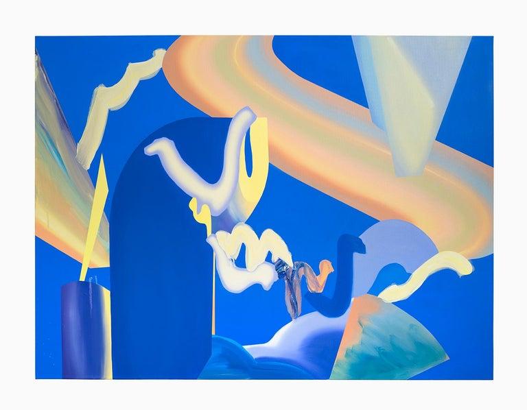 Jaena Kwon Abstract Painting - Blueroom