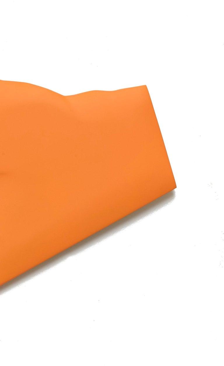 One Fold Orange - Painting by Jaena Kwon