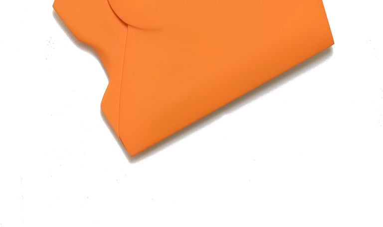 One Fold Orange - Abstract Painting by Jaena Kwon