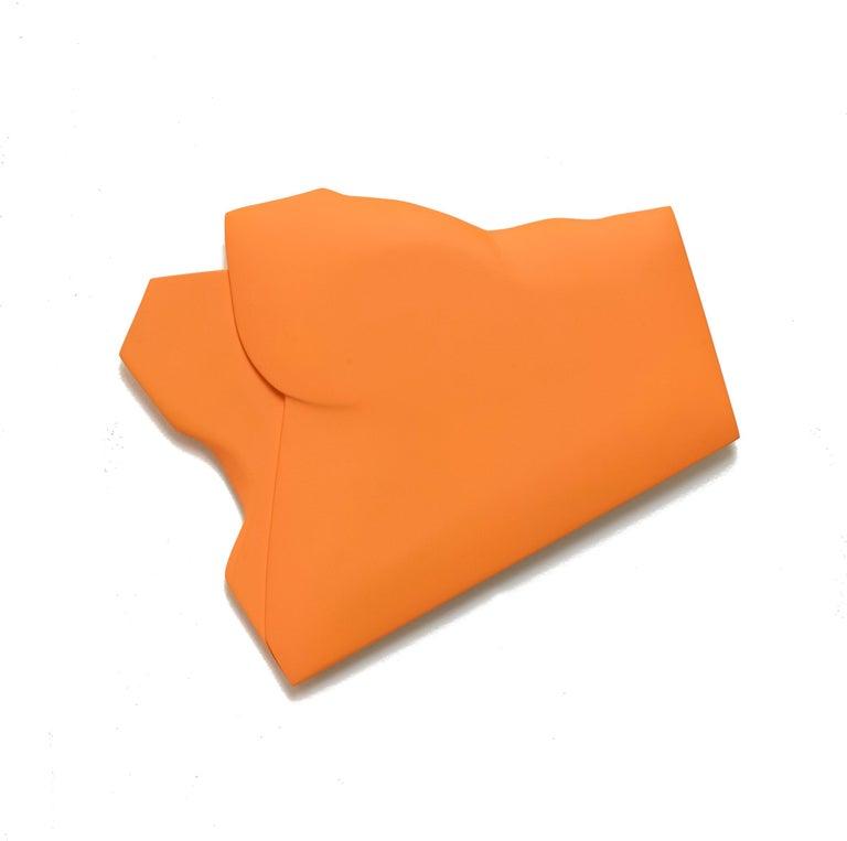 Jaena Kwon Abstract Painting - One Fold Orange