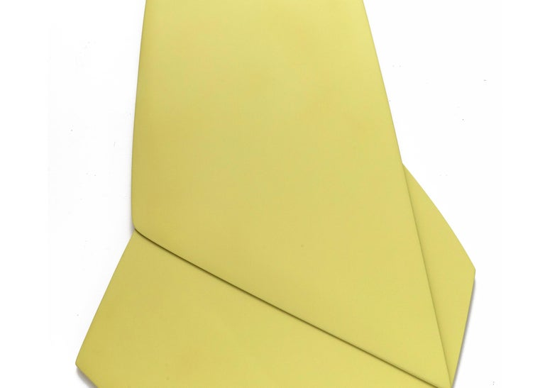 Triangle - Yellow Abstract Sculpture by Jaena Kwon