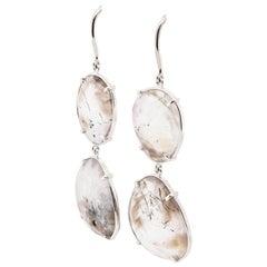 JAG New York Drop Earrings with Quartz Set in Platinum