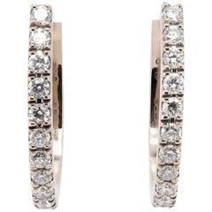 JAG New York Hoop Diamond Earrings in 18K White Gold