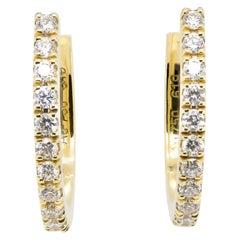 JAG New York Hoop Diamond Earrings in 18 Karat Yellow Gold